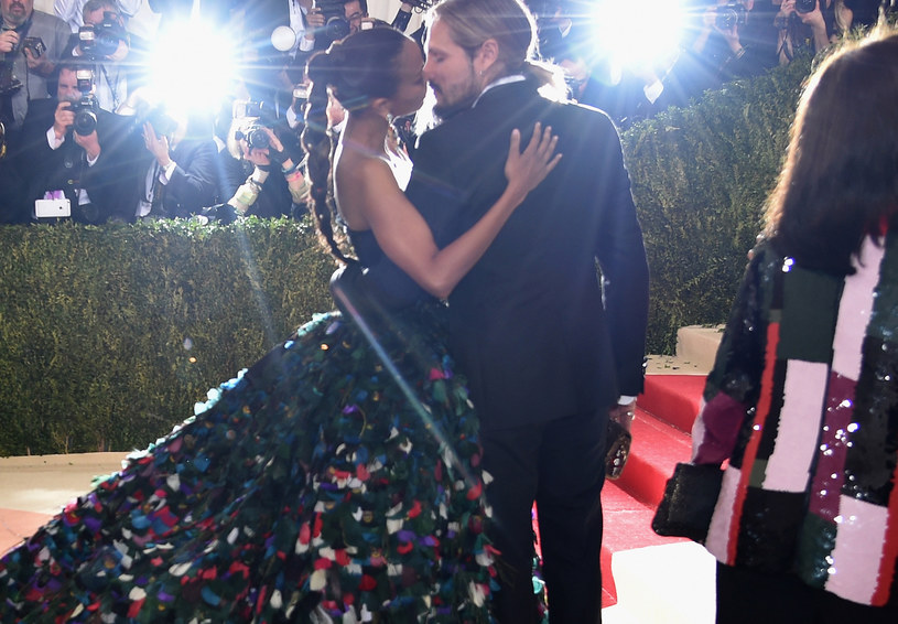 Zoe Saldana z mężem /Dimitrios Kambouris /Getty Images
