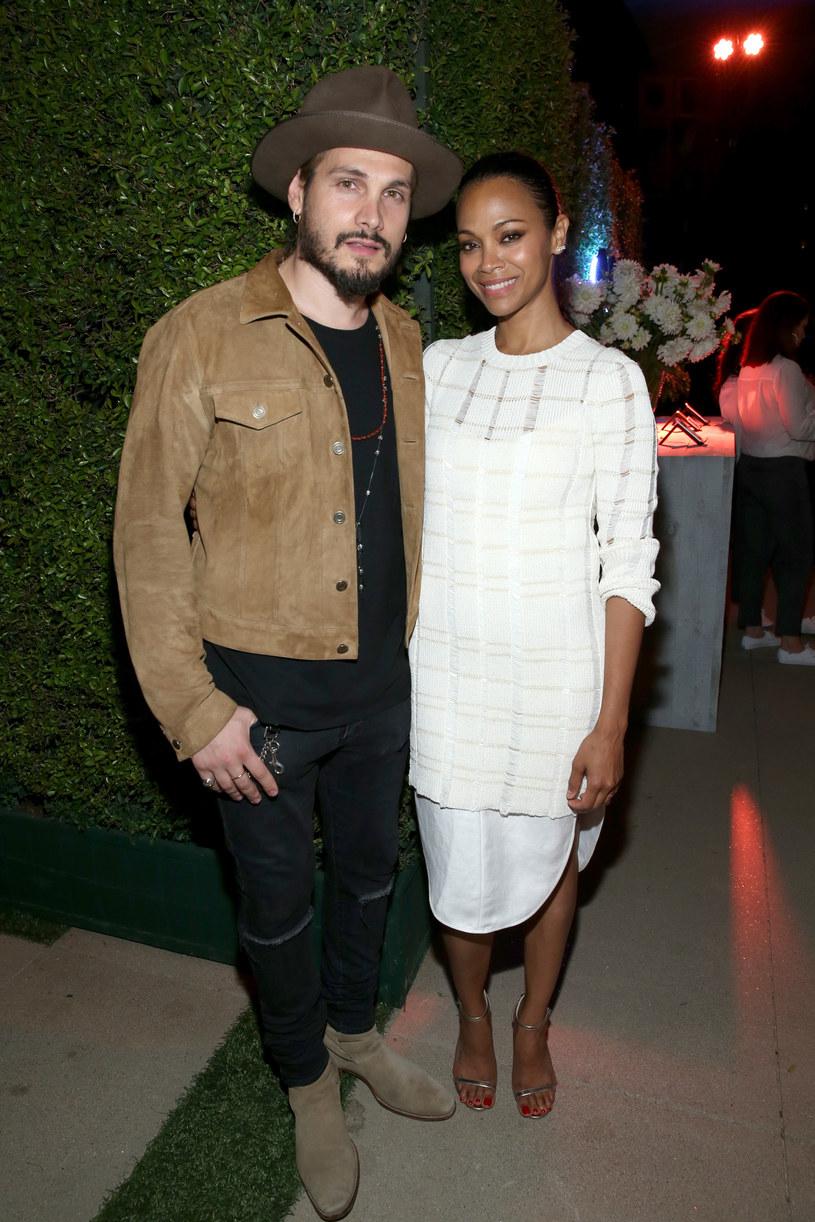 Zoe Saldana z mężem /Jonathan Leibson /Getty Images