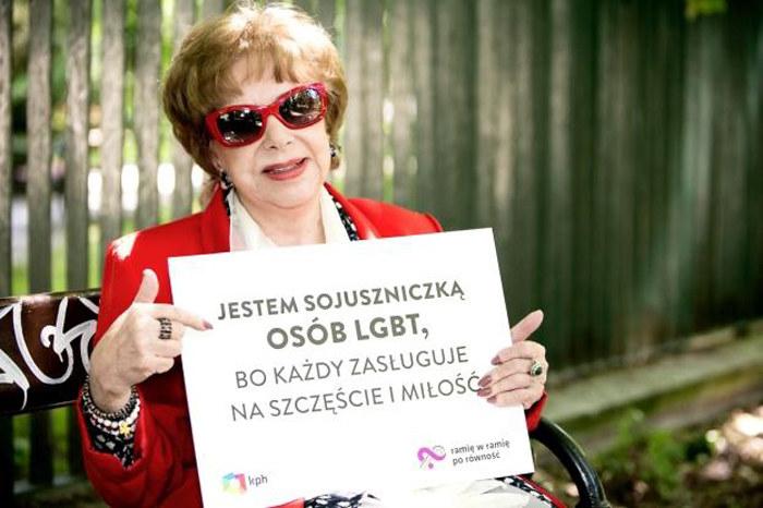 Zofia Czerwińska wspiera akcję /- /materiały prasowe