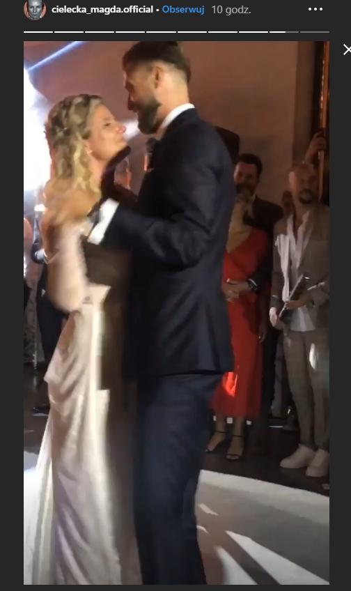 Zofia i Andrzej podczas pierwszego tańca /Instagram