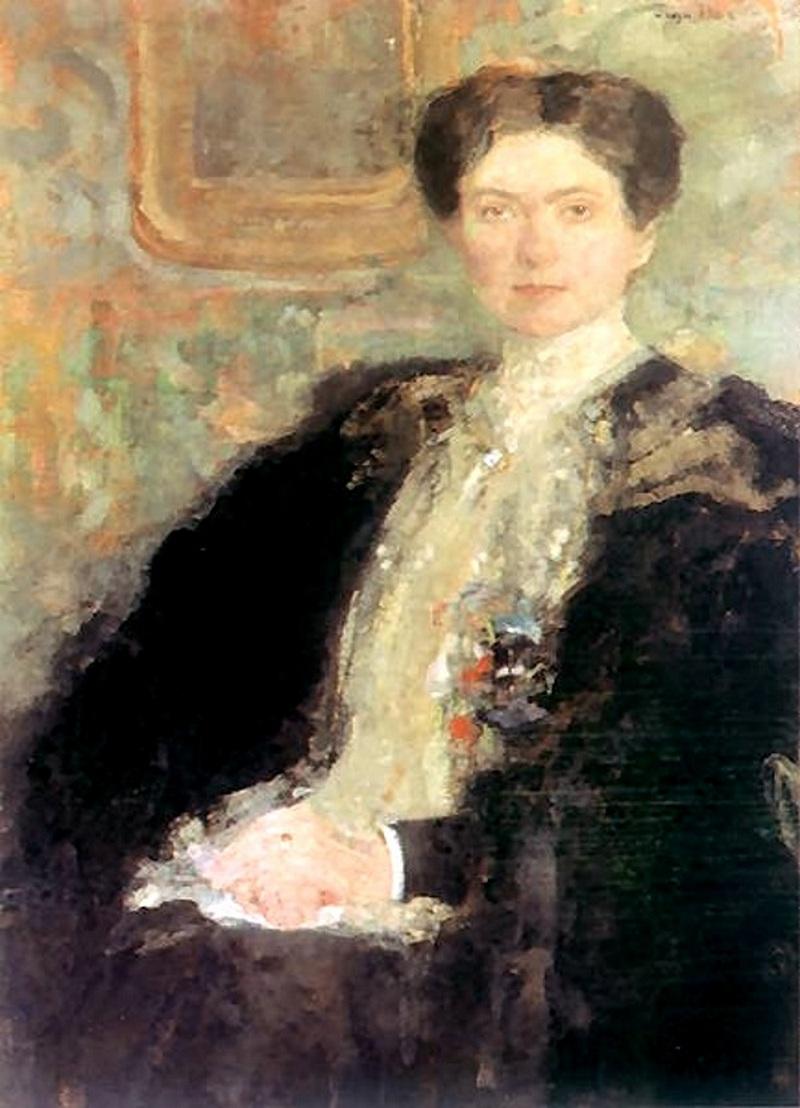 Zofia Kirkor-Kiedroniowa na portrecie pędzla Olgi Bozańskiej (domena publiczna) /Ciekawostki Historyczne