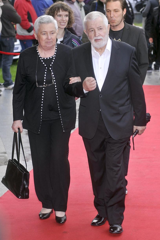 Zofia Nasierowska i Janusz Majewski na Festiwalu Filmowym w Gdyni, 2010 r. /Kurnikowski /AKPA