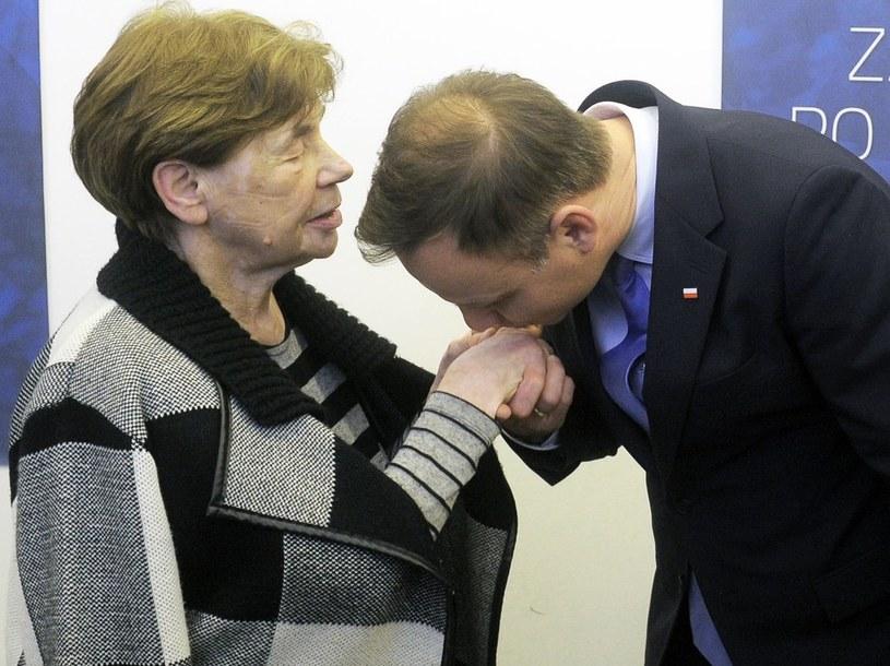 Zofia Romaszewska i prezydent elekt Andrzej Duda /Jan Bielecki /East News