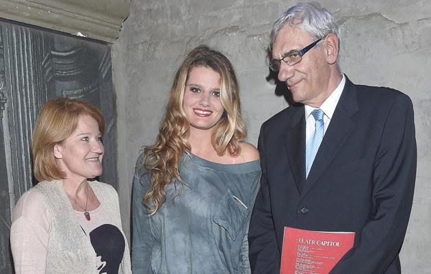 Zofia Zborowska z rodzicami /Kurnikowski /AKPA