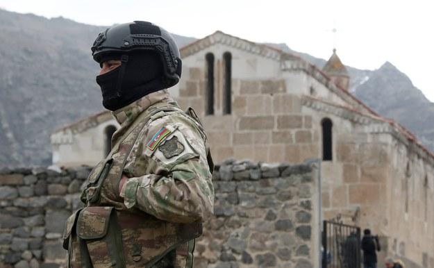 Żołnierz armii Azerbejdżanu / Valery Sharifulin    /PAP/EPA