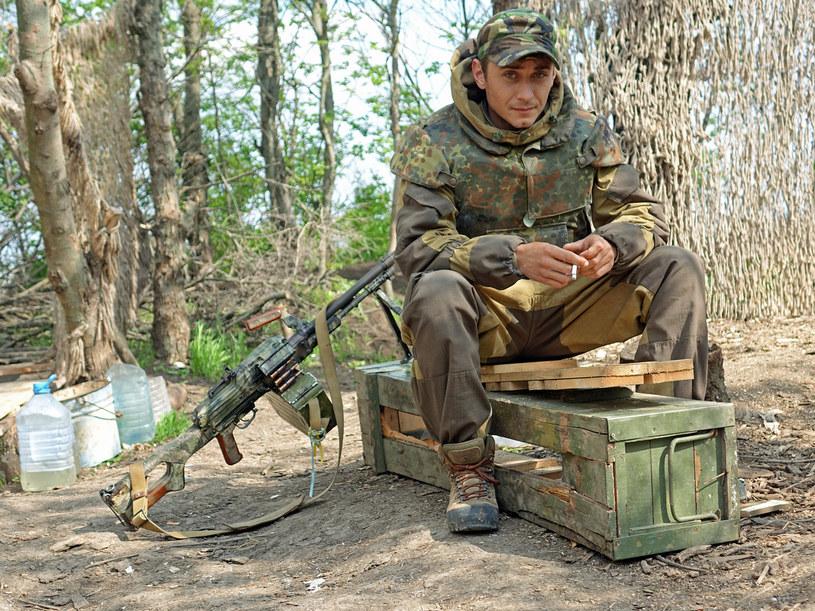 Żołnierz armii ukraińskiej na pozycjach w pobliżu Mariupola /Marcin Ogdowski, bezkamuflazu.pl /