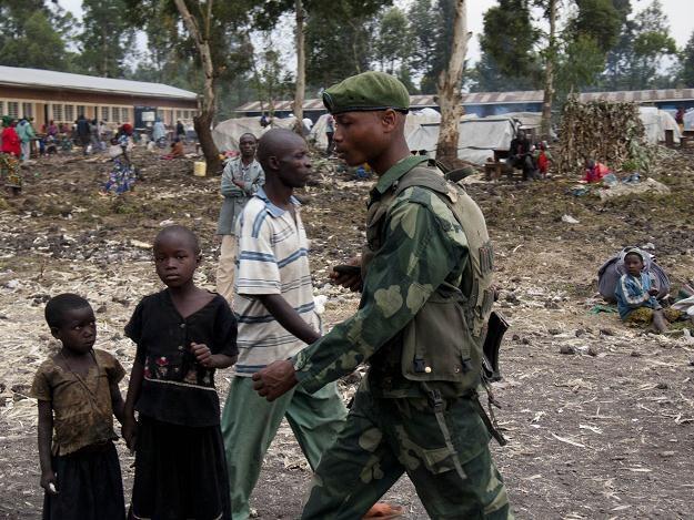 Żołnierz na placu w kongijskim Goma, 5 sierpnia 2012 /AFP