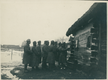 Żołnierze I Brygady Legionów Polskich podczas kolędowania w Karasinie na Wołyniu
