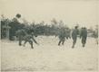 Żołnierze I Brygady Legionów Polskich podczas bitwy na śnieżki