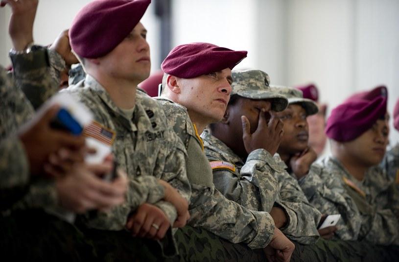 Żołnierze w bazie wojskowej Fort Bragg; zdj. ilustracyjne /AFP