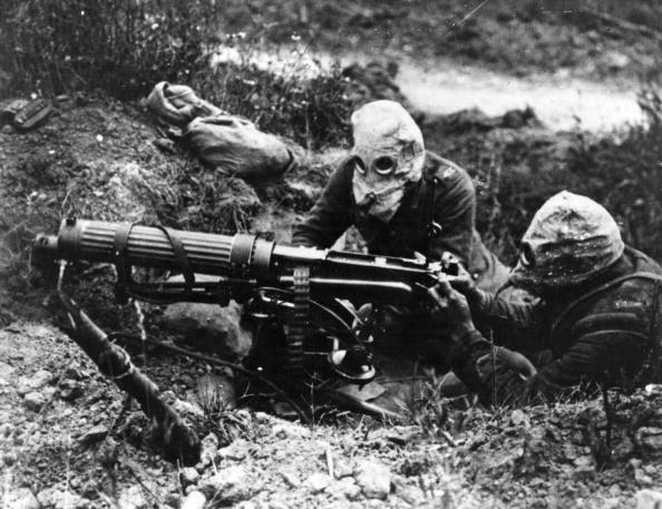 Żołnierze z 16 Kompanii Karabinów Maszynowych, w której służył Lewis /Getty Images/Flash Press Media
