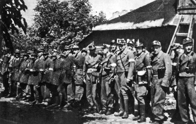 """Żołnierze Zgrupowania Armii Krajowej """"Radosław"""" w sierpniu 1944 roku /domena publiczna"""