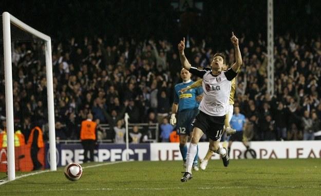 Zoltan Gera fetuje gola strzelonego Juventusowi. /AFP