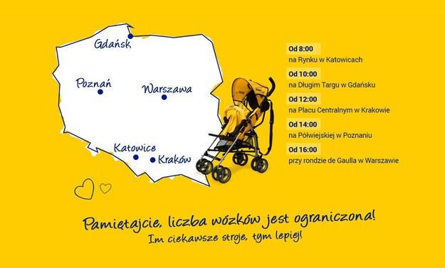 Żółte wózki od RMF FM /Grafika RMF FM