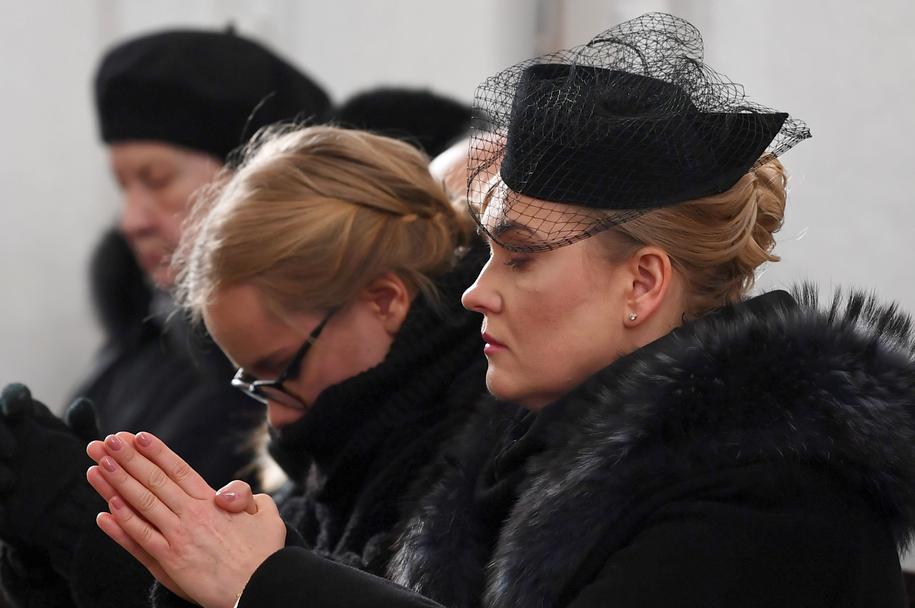 Żona prezydenta Gdańska Magdalena Adamowicz (po prawej) i jego córka Antonina Adamowicz / Adam Warżawa    /PAP