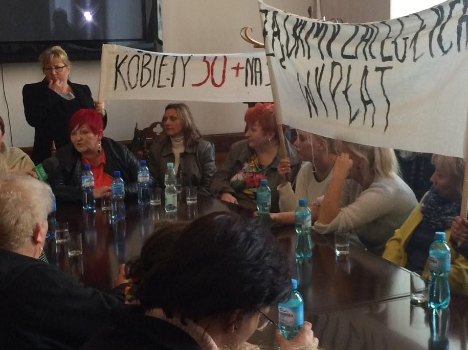 Żony górników na spotkaniu /Anna Kropaczek /RMF FM