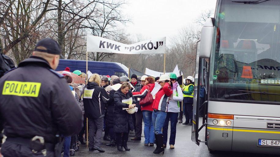 Żony górników przyjechały do Warszawy /Michał Dukaczewski /RMF FM