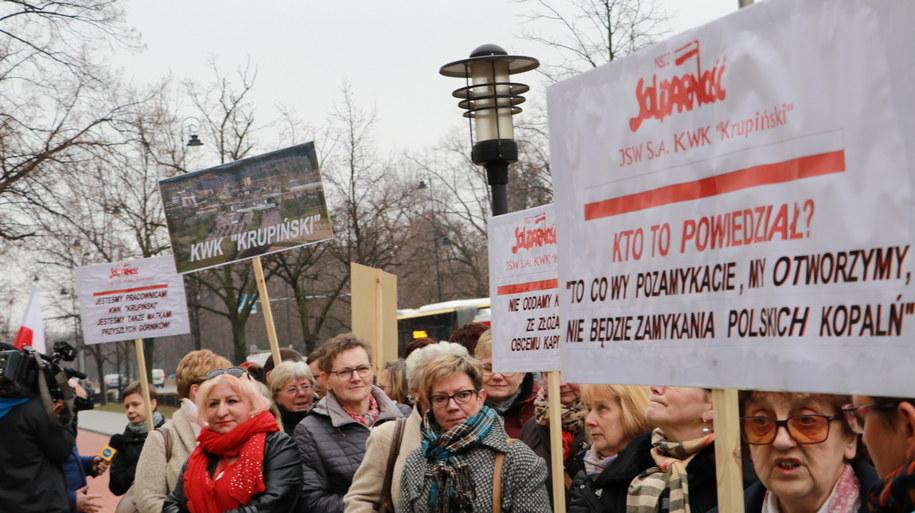 Żony górników z Krupińskiego /Michał Dukaczewski /RMF FM
