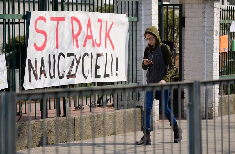 Zorganizowany przez Związek Nauczycielstwa Polskiego i Forum Związków Zawodowych strajk nauczycieli trwał od 8 do 27 kwietnia /Bartosz Krupa /East News