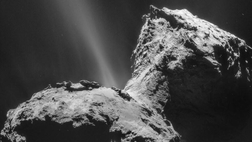 Zorza polarna na komecie 67P /materiały prasowe