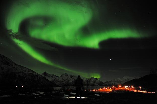 Zorza polarna nad Tromsoe w Norwegii /AFP