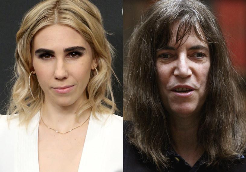 Zosia Mamet (L) wcieli się w postać Patti Smith (P) /Rob Kim / Jeff J Mitchell /Getty Images