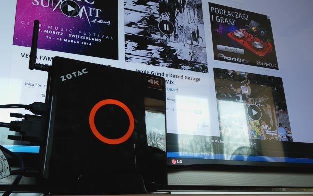 Zotac ZBOX EI750 - ponieważ wspiera on rozdzielczość 4K, spokojnie wykorzystamy go wraz z telewizorami Ultra HD /INTERIA.PL