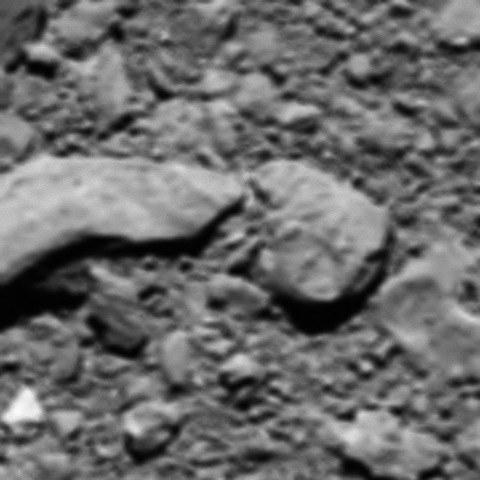 """Zrekonstruowane ostatnie """"pół zdjęcia"""" z sondy Rosetta /materiały prasowe"""