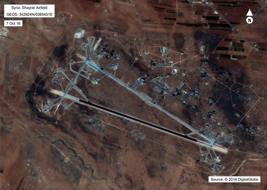 Źródła: atak na bazę wojskową w Syrii - jednorazowy /US DEPARTMENT OF DEFENSE /PAP/EPA