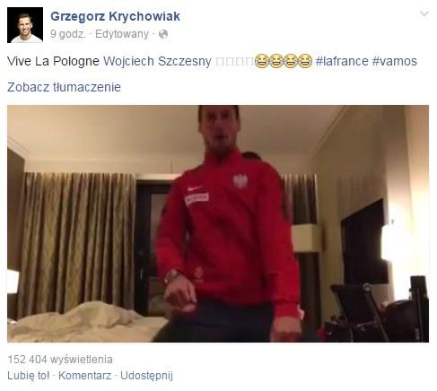 Źródło: https://www.facebook.com/GrzegorzKrychowiakOfficial /Internet