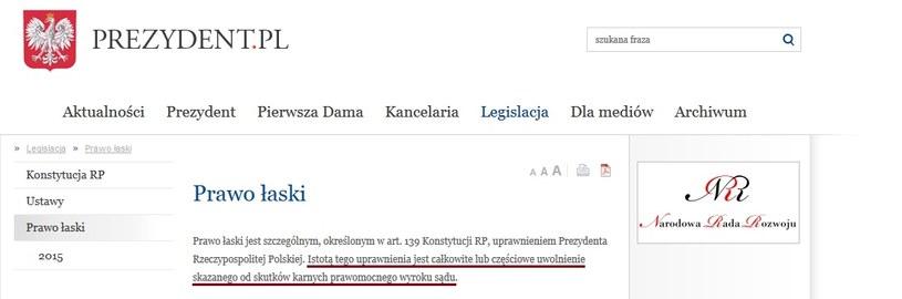źródło: www.prezydent.pl/prawo/prawo-laski/ /