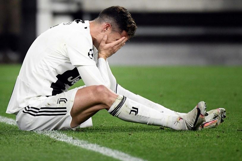 Zrozpaczony Cristiano Ronaldo /AFP