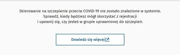 Zrzut ekranu https://pacjent.erejestracja.ezdrowie.gov.pl/ /Zrzut ekranu