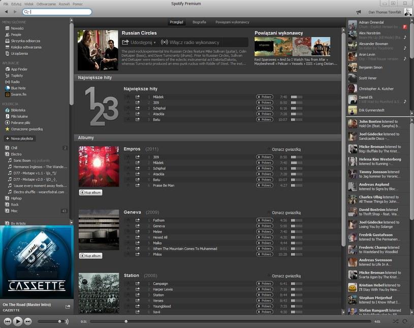 Zrzut ekranu z aplikacji Spotify - wersja na komputery osobiste z systemem Windows /materiały prasowe