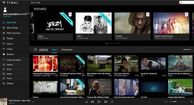 Zrzut ekranu z desktopowej wersji serwisu Tidal /materiały prasowe