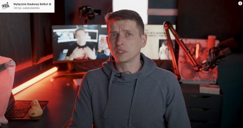 Zrzut ekranu z drugiego kanału autora, Wyłącznie Naukowy Bełkot /materiał zewnętrzny