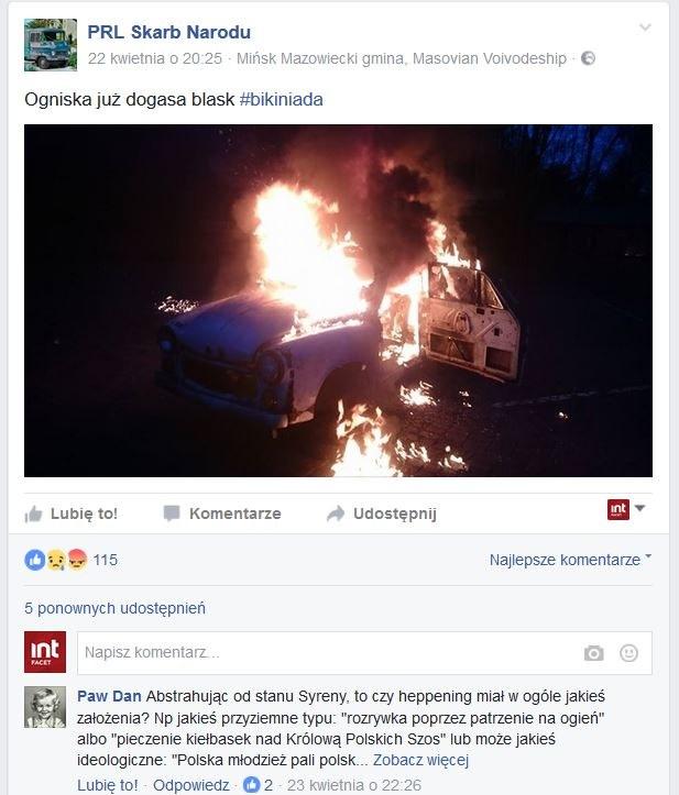 """Zrzut ekranu z oficjalnego profilu facebookowego """"PRL Skarb Narodu"""" /materiały prasowe"""