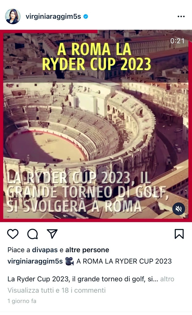 Zrzut ekranu z profilu burmistrz Rzymu /Zrzut ekranu