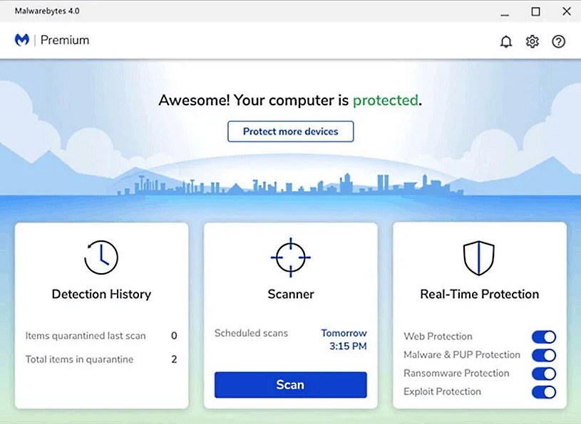 Zrzut ekranu z programu Malwarebytes /materiały prasowe