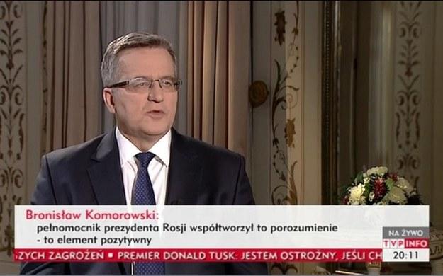 Zrzut ekranu z TVP Info /INTERIA.PL
