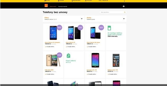 Zrzut ekranu ze sklepu Orange /materiały prasowe