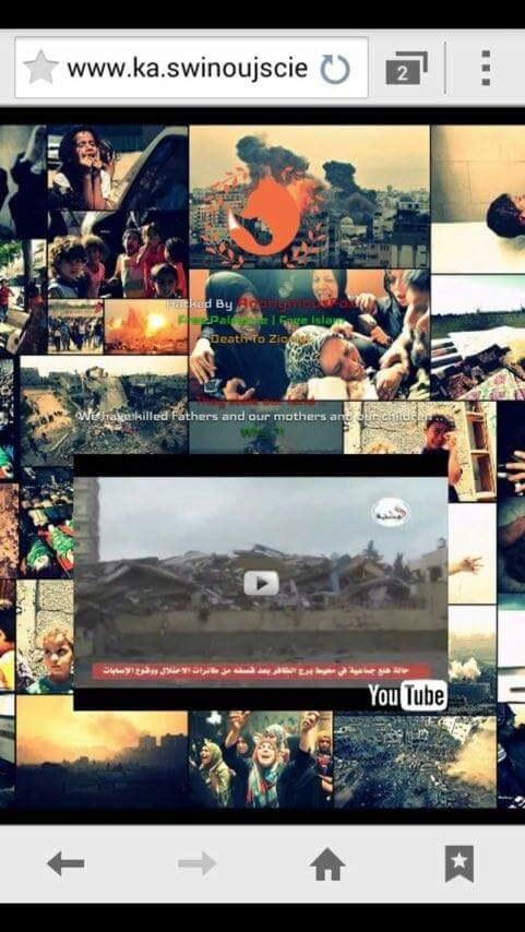 Zrzut ekranu zhakowanej strony /iswinoujscie.pl /iswinoujscie.pl