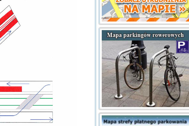 """Zrzut ze strony zikit.krakow.pl.  Czyli to są """"parkingi rowerowe"""" czy też jednak urządzenia bezpieczeństwa, bo już z lekka pogubiliśmy się... /"""