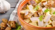 Zupa czosnkowa z serem