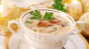 Zupa grzybowa pachnąca tymiankiem