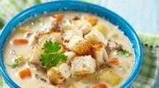 Zupa jarzynowa z grzankami