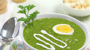 Zupa krem brokułowy z jajkiem