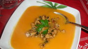 Zupa krem z batatow i z kurek