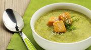 Zupa krem z grzankami i serem