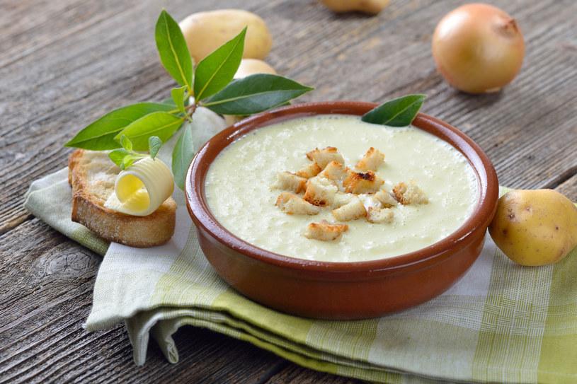 Zupa krem z porów i ziemniaków /123RF/PICSEL